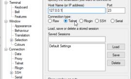 How to telnet using Putty ?